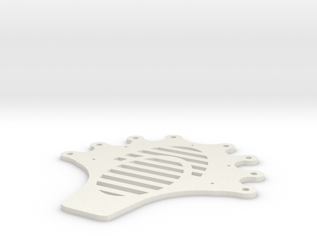Facehugger body plate. in White Natural Versatile Plastic