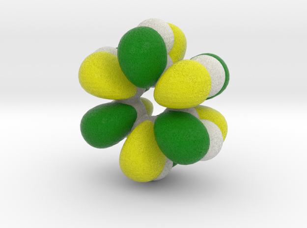 Highest energy unoccupied pi-MO of benzene 3d printed