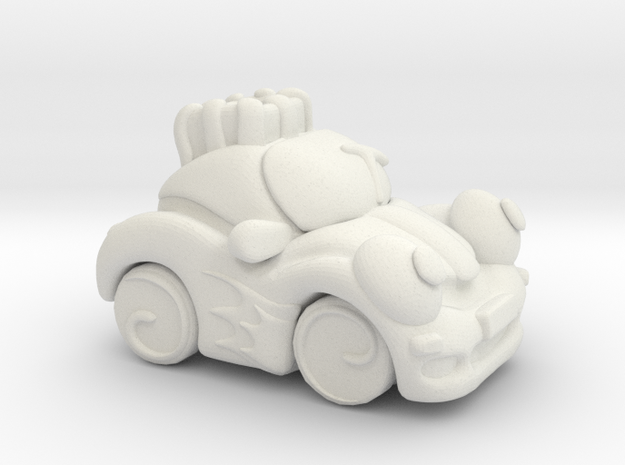 Circus Car in White Strong & Flexible