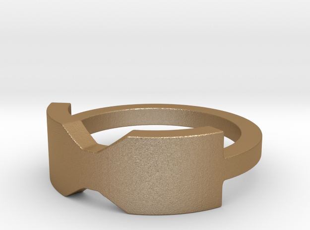 Thick Bowtie Ring 3d printed