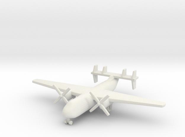 1/285 (6mm) C-2 Greyhound  in White Natural Versatile Plastic