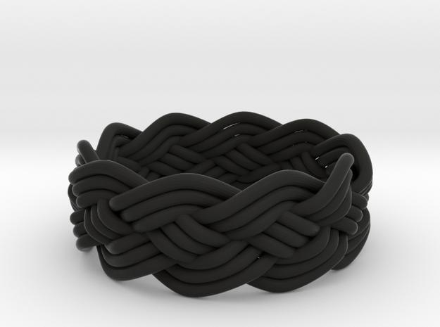 Turk's Head Knot Ring 4 Part X 10 Bight - Size 7.5 3d printed