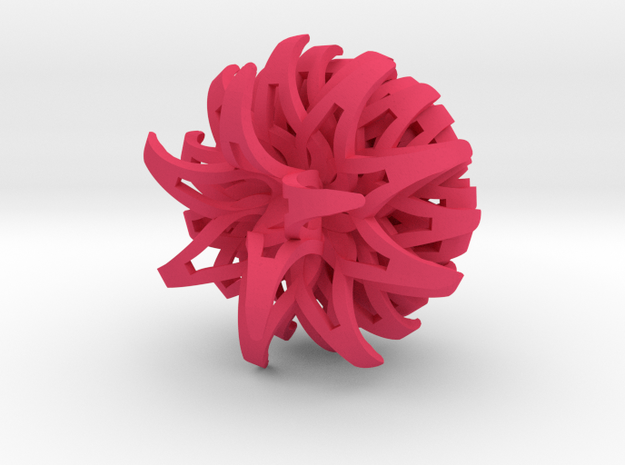 Thistle Keychain 3d printed