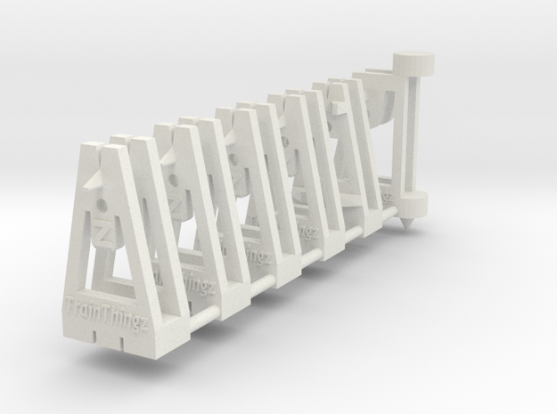 TrackToolz Set - Z Gauge in White Strong & Flexible