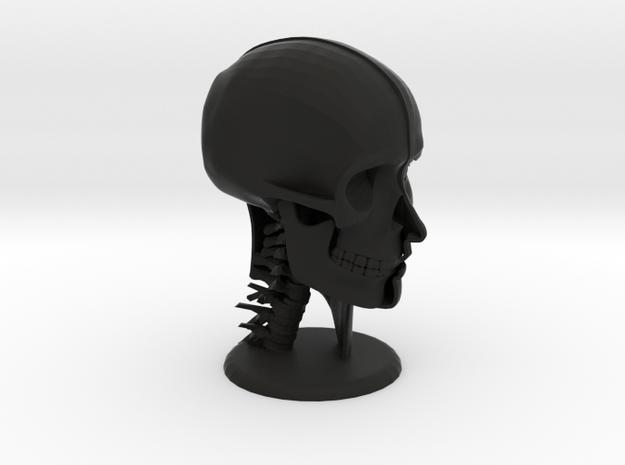 """Human Skull Head - 4"""" tall 3d printed"""