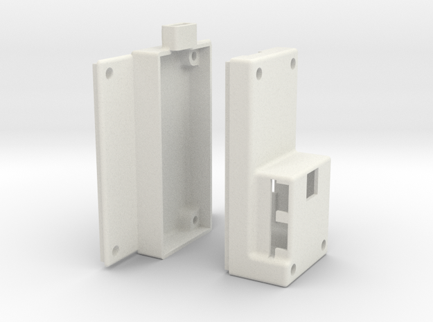 Alexmos Third Axis Controller Housing in White Natural Versatile Plastic