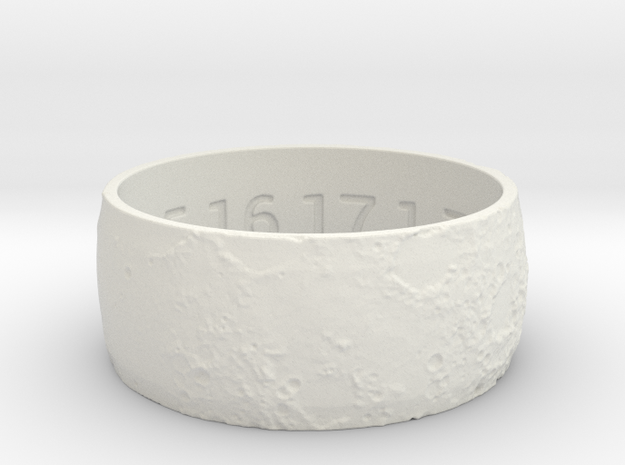 Lunar Surface Ring 2 Ring Size 12.5 3d printed