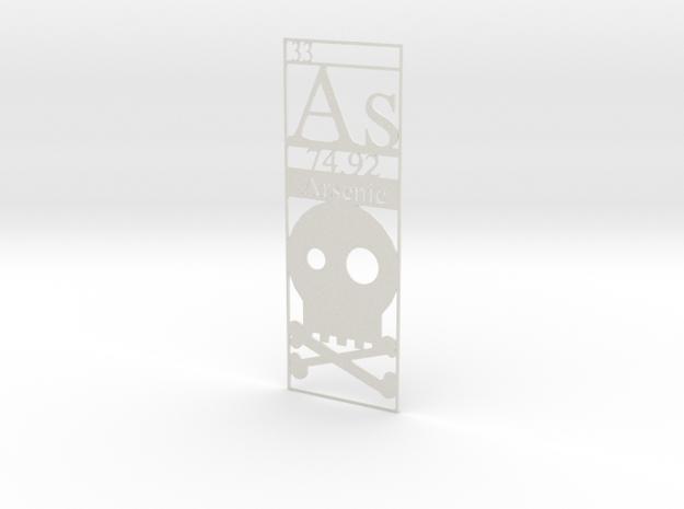 Elemental Bookmark - Arsenic short customization 3d printed