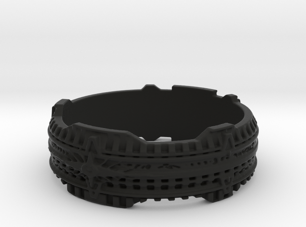Star Gate Ring #1, Ring Size 9 3d printed