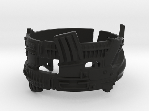 Dual AR-15s, #1, size 14 Ring Size 14 3d printed