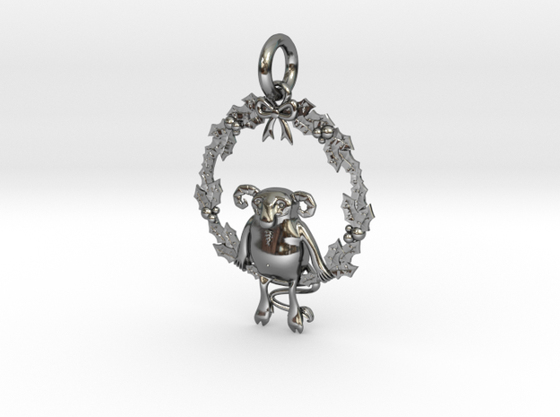 Krampus the Yule Lord in Fine Detail Polished Silver