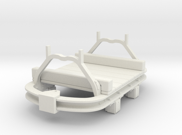 1:35 WDLR trolley flat converted from Hudson skip in White Strong & Flexible