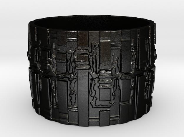 Bio Mech Ring #2, Thin 2mm, Ring Size 12 3d printed