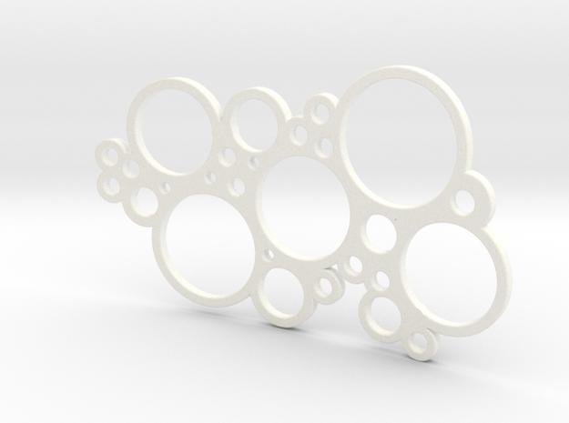 bubble fluppel soap dish 3d printed