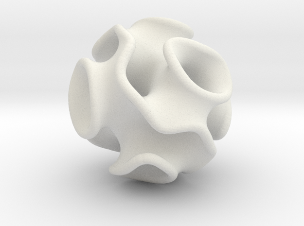 Spherical Gyroid in White Natural Versatile Plastic