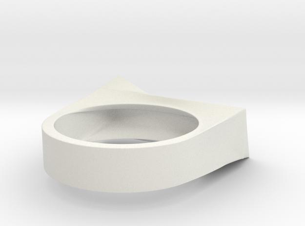 Cutting Edge Ring - 18 mm in White Natural Versatile Plastic