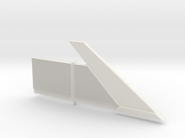 Beton-Schallschutzwand Mit Anfangselement Rechts-V in White Natural Versatile Plastic