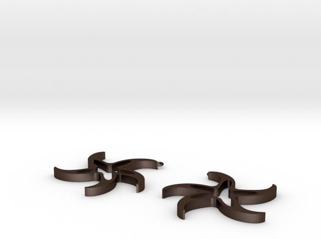 Galassie (earrings) 3d printed