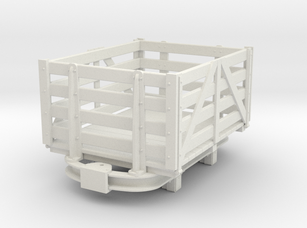 1:32/1:35 Skip based Peat wagon  in White Natural Versatile Plastic