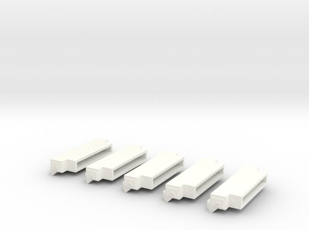 1/64 Bumpers (S Scale) in White Processed Versatile Plastic