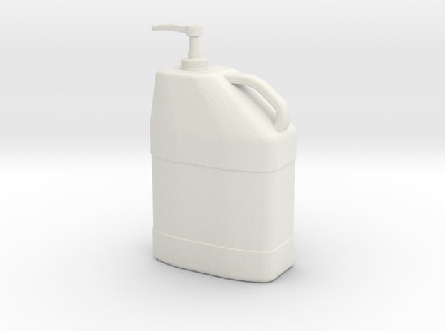 1/10 Scale Hand Cleaner Pump Container 3d printed