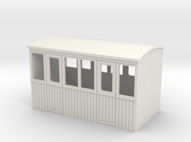 009 4 wheeled 2 compartment 3rd class coach body 3d printed