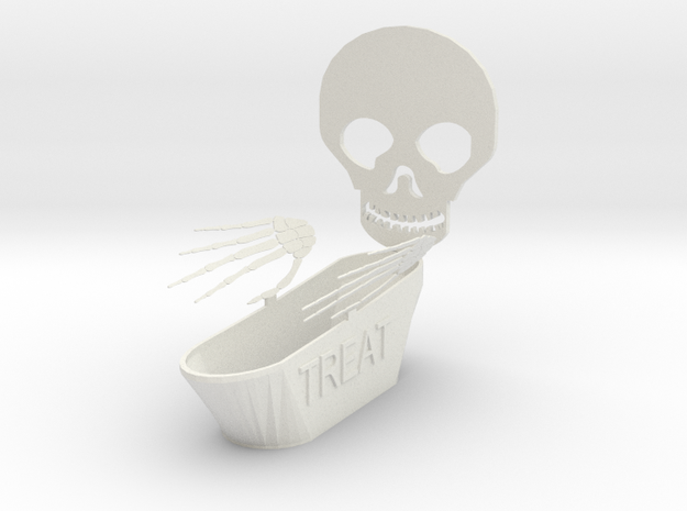 Trick Or Treat Bowl in White Natural Versatile Plastic