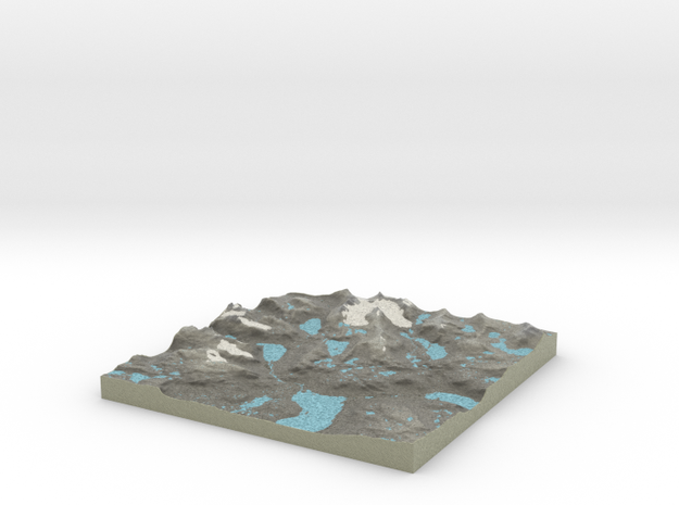 Terrafab generated model Mon Sep 30 2013 10:41:45 3d printed