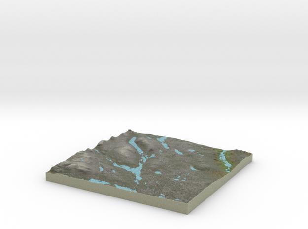 Terrafab generated model Mon Sep 30 2013 19:51:28  in Full Color Sandstone