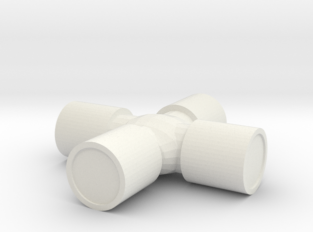 1/10 Scale U-Joint in White Natural Versatile Plastic