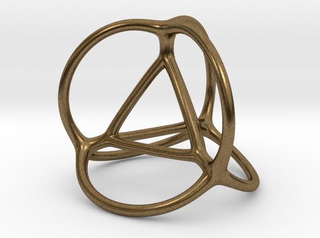 Soap Bubble Tetrahedron (S) 3d printed