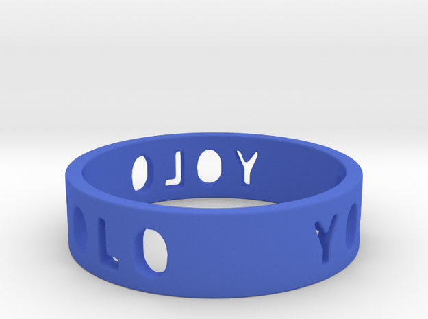 YOLO TYPE 2, Size 5 Ring Size 5 3d printed