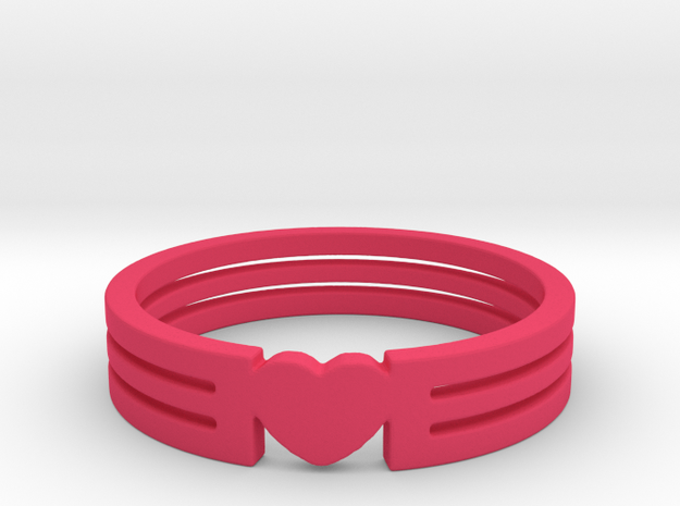 Heart Ring Size 5.5 3d printed