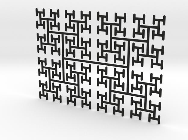 H-Tree, Space-Filling Fractal Tree in 2D 3d printed