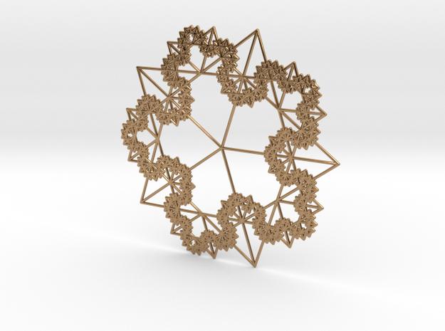 5 Golden Fractal Tree Koch 3d printed