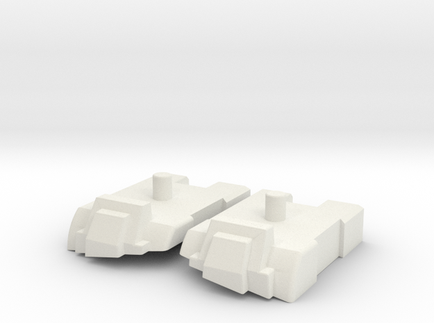 Feet set for Kabaya set 7 Superion in White Natural Versatile Plastic