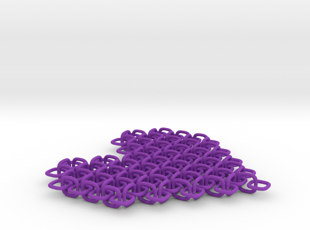 Chainmail Pixel Heart 3d printed