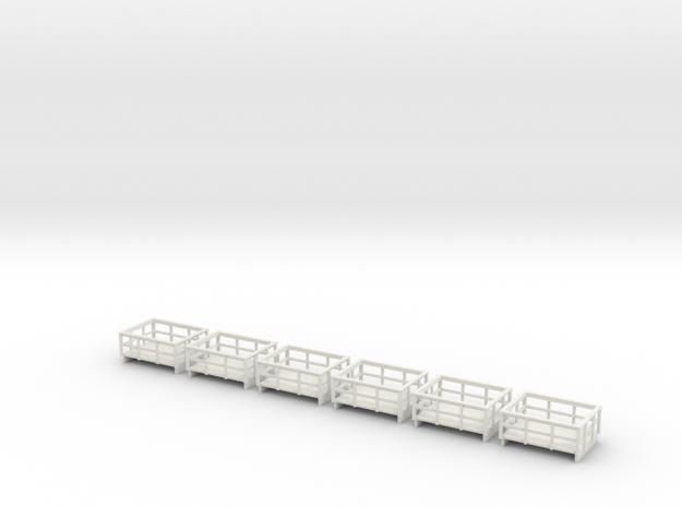 55n2 slate wagons  in White Natural Versatile Plastic