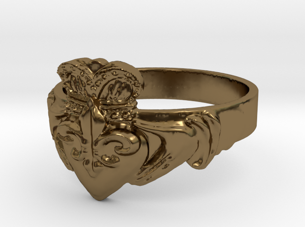 NOLA Claddagh, Ring Size 6.5 3d printed