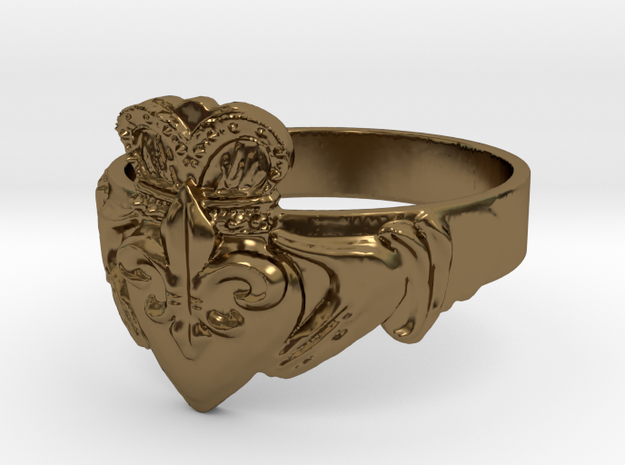 NOLA Claddagh, Ring Size 9 3d printed