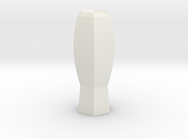 fantasia vase in White Natural Versatile Plastic