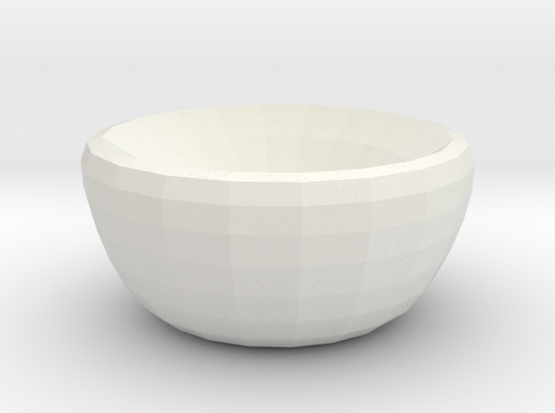 crystal dreams bowl in White Natural Versatile Plastic