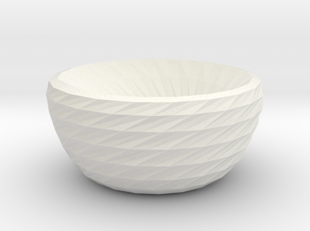 twisted dreams bowl in White Natural Versatile Plastic
