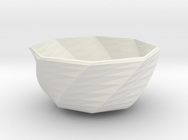 fantasia bowl in White Natural Versatile Plastic
