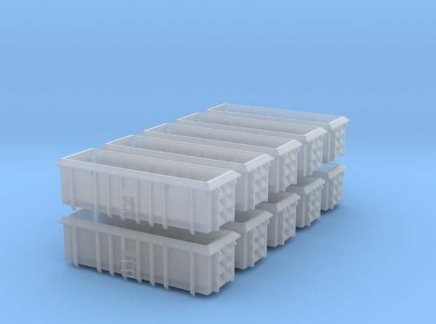 PO-022a-d Scrap Wagon Bundle for Peco Chassis. in Smooth Fine Detail Plastic
