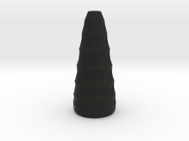 twisted long vase 3d printed