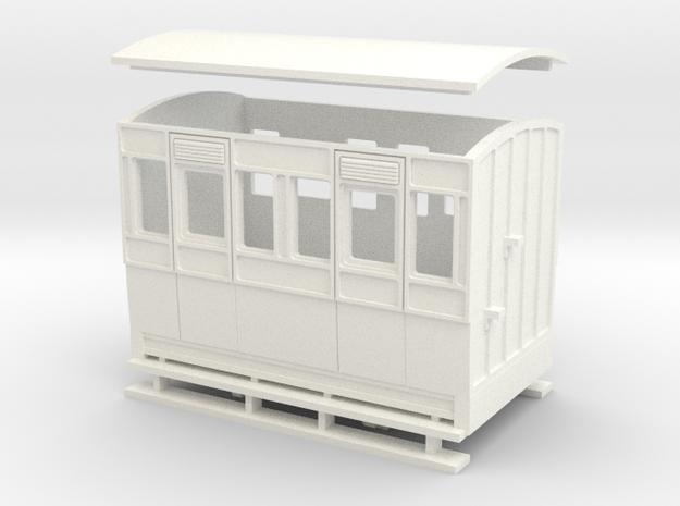55n2 4w Short Coach  in White Processed Versatile Plastic
