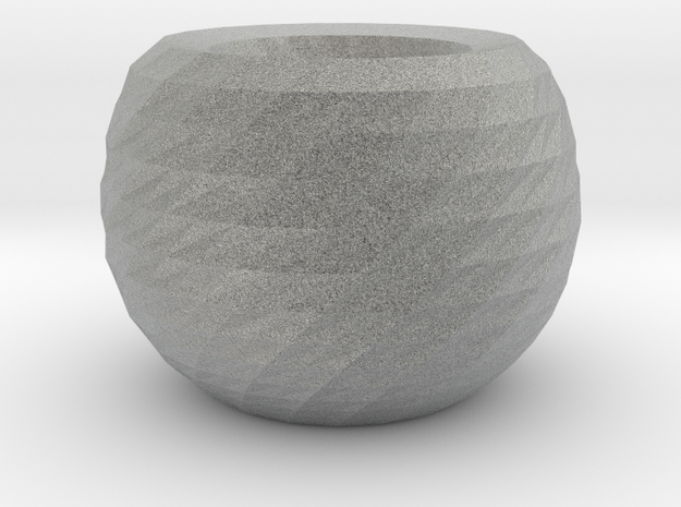twisted ball vase 2 3d printed