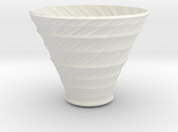 neptune vase in White Natural Versatile Plastic