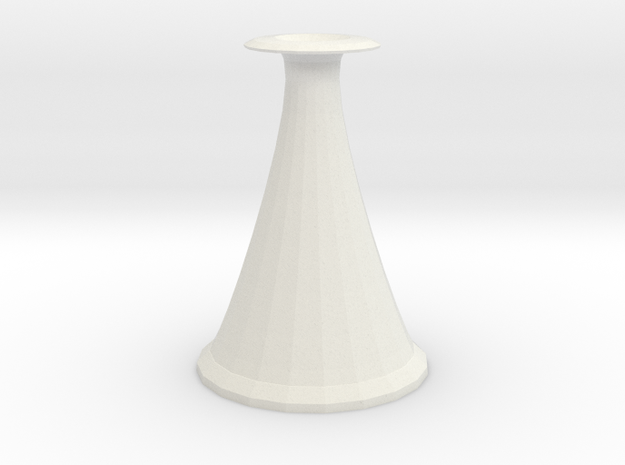 cone vase 2 in White Natural Versatile Plastic